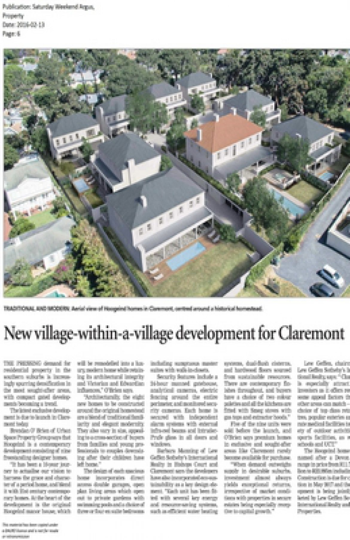 New village-within-a-village development for Claremont
