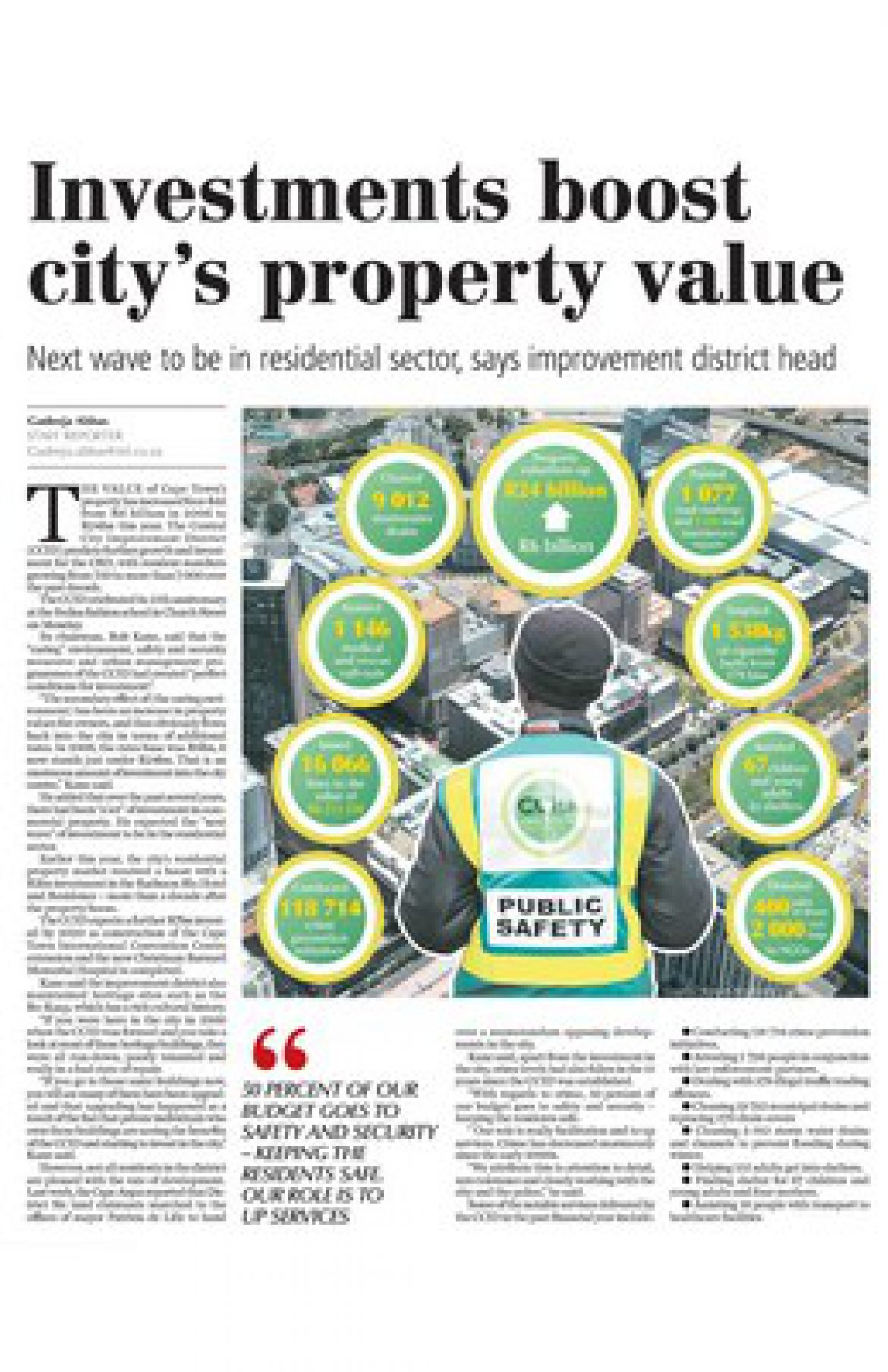 Investments boost city's property value