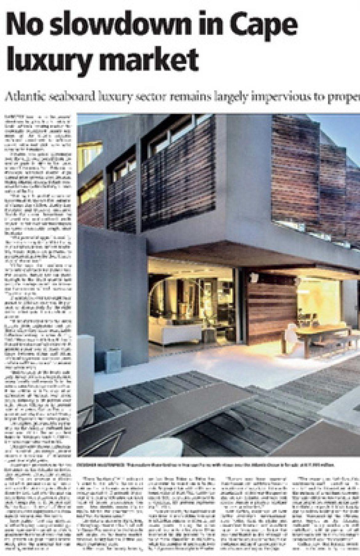 No slowdown in Cape luxury market