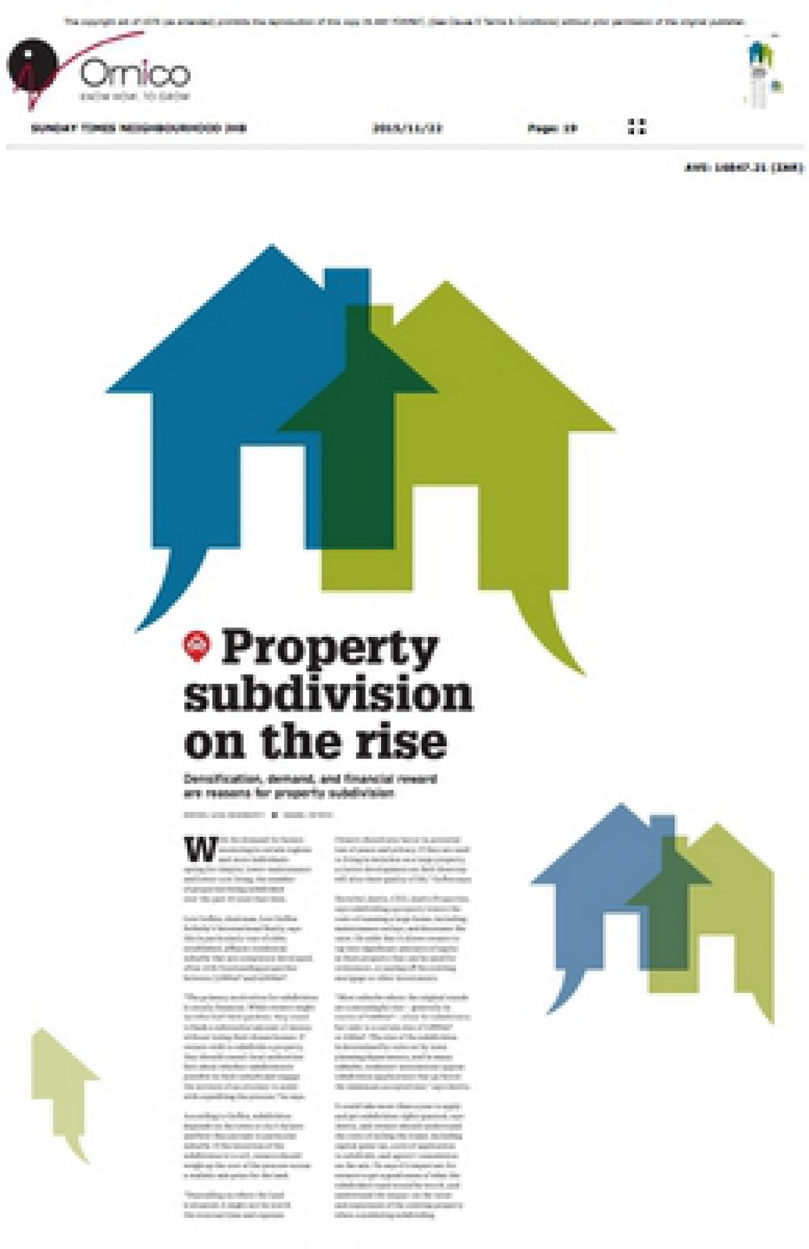 Property subdivision on the rise