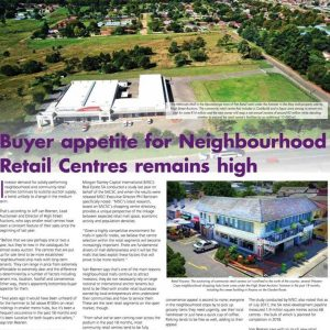 Demand for Retail Centres Still Up There